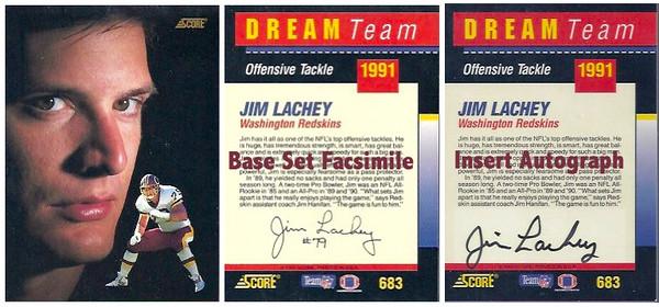 1991 Score Dream Team Autographs Jim Lachey