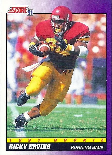 Ricky Ervins 1991 Score