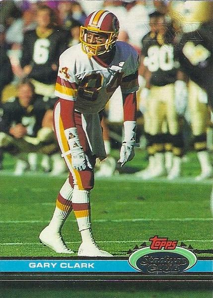 Gary Clark 1991 Stadium Club Super Bowl XXVI