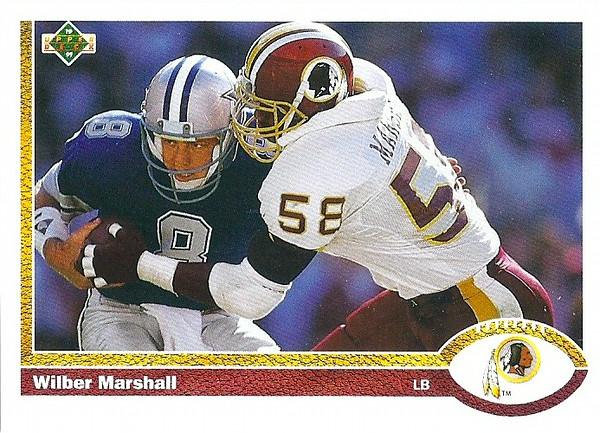 Wilber Marshall 1991 Upper Deck