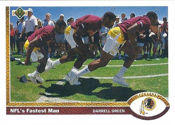 Darrell Green NFL's Fastest Man 1991 Upper Deck