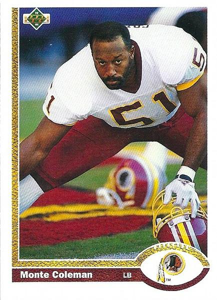 Monte Coleman 1991 Upper Deck
