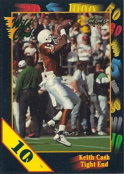 Keith Cash 1991 Wild Card 10 Stripe