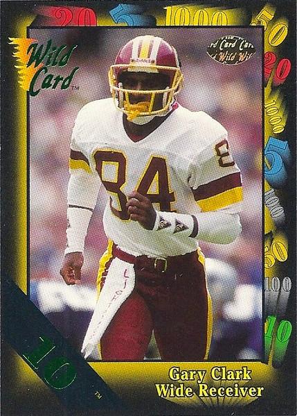 Gary Clark 1991 Wild Card 10 Stripe