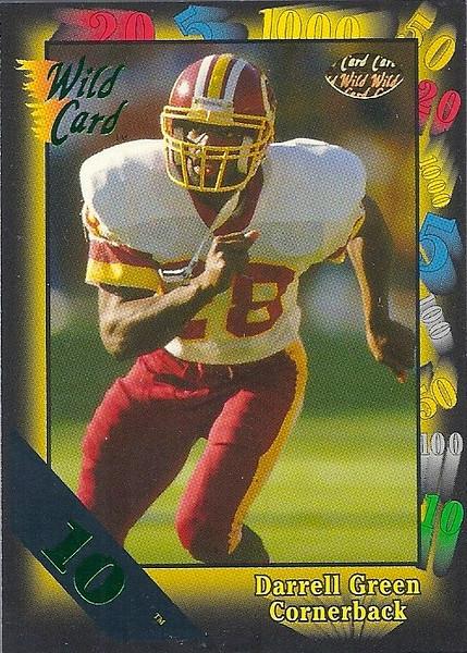 Darrell Green 1991 Wild Card 10 Stripe