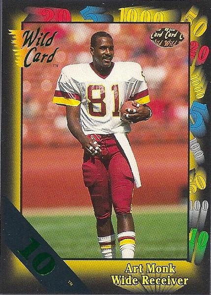 Art Monk 1991 Wild Card 10 Stripe
