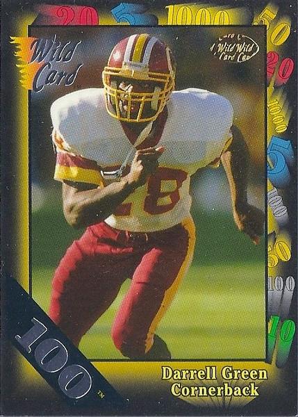 Darrell Green 1991 Wild Card 100 Stripe