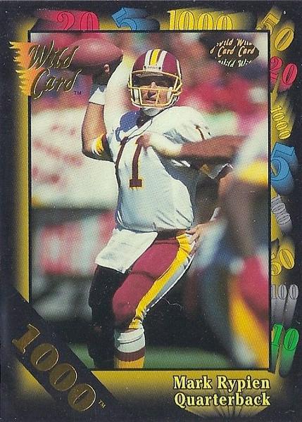 Mark Rypien 1991 Wild Card 1000 Stripe
