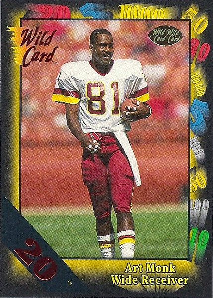 Art Monk 1991 Wild Card 20 Stripe
