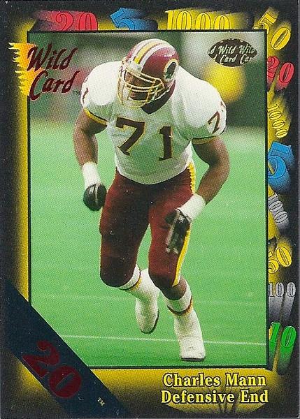 Charles Mann 1991 Wild Card 20 Stripe