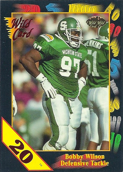 Bobby Wilson 1991 Wild Card 20 Stripe