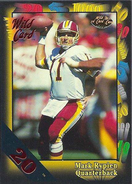 Mark Rypien 1991 Wild Card 20 Stripe