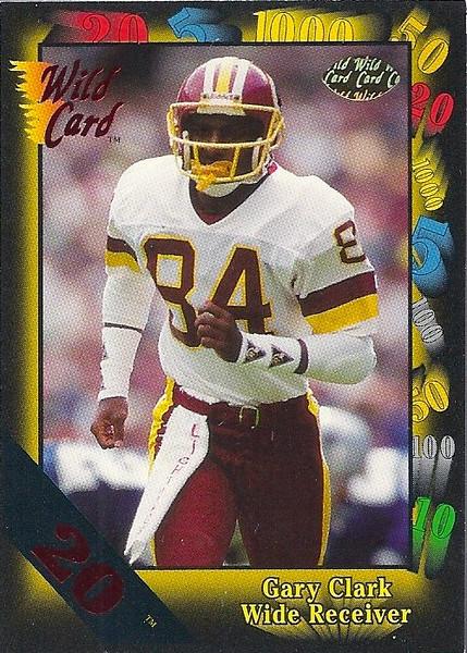 Gary Clark 1991 Wild Card 20 Stripe