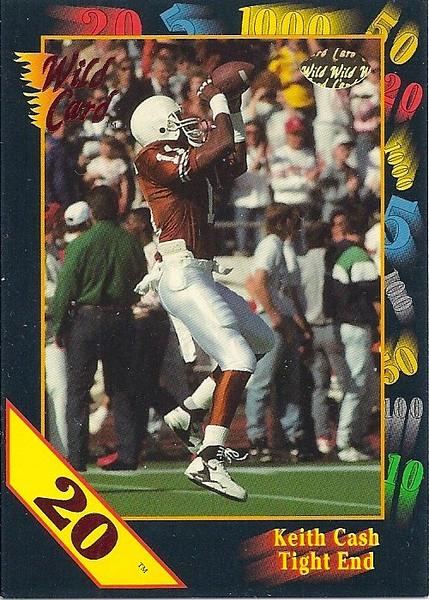 Keith Cash 1991 Wild Card 20 Stripe