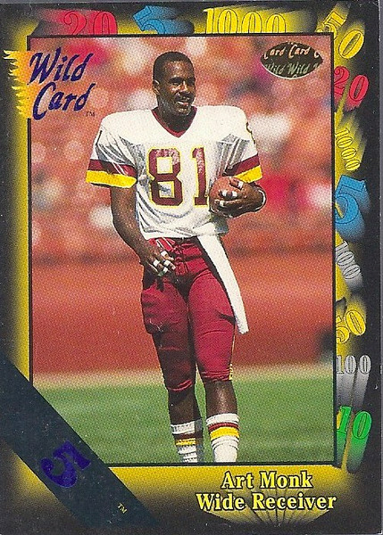 Art Monk 1991 Wild Card 5 Stripe