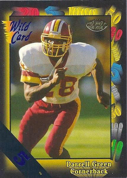 Darrell Green 1991 Wild Card 5 Stripe