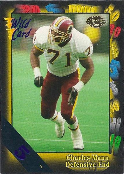 Charles Mann 1991 Wild Card 5 Stripe