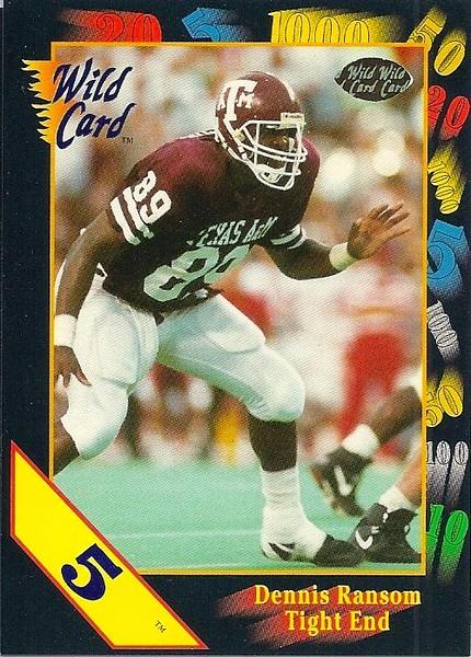 Dennis Ransom 1991 Wild Card 5 Stripe Draft