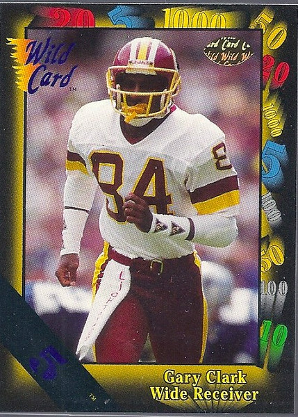 Gary Clark 1991 Wild Card 5 Stripe