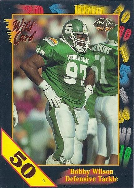 1991 Wild Card Draft 50 Stripe Bobby Wilson