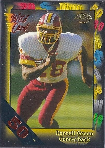Darrell Green 1991 Wild Card 50 Stripe