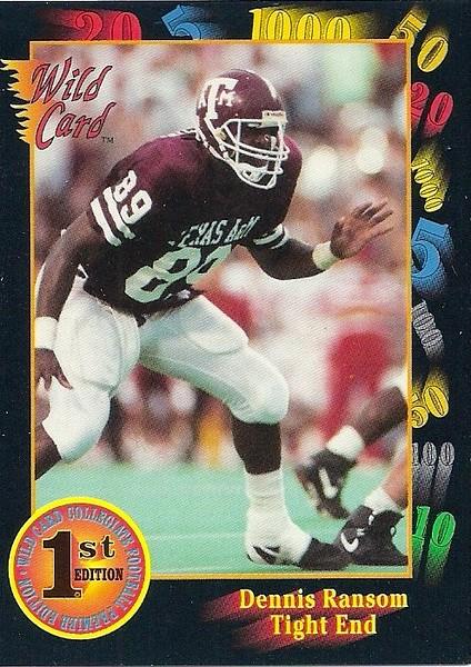 Dennis Ransom 1991 Wild Card Draft