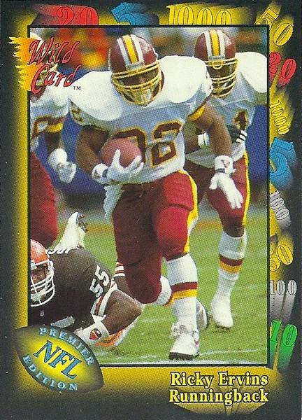 Ricky Ervins 1991 Wild Card
