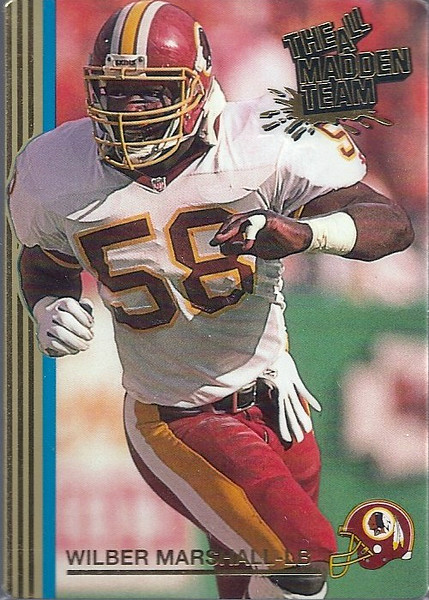 Wilber Marshall 1992 Action Packed All-Madden Team