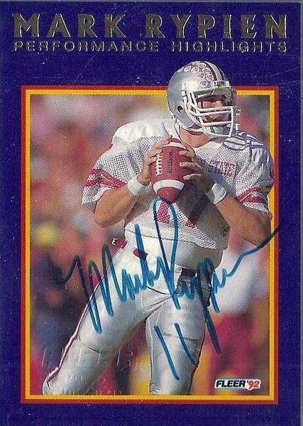 1992 Fleer Mark Rypien Highlights Autographs