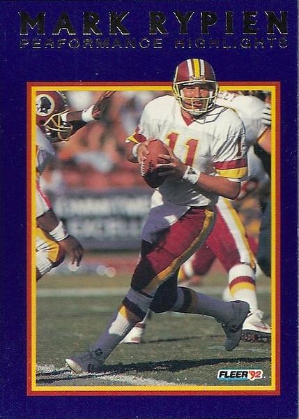 #05 1992 Fleer Mark Rypien Highlights