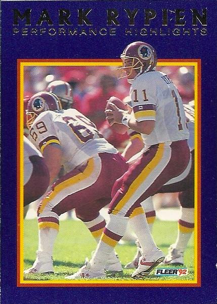 #11 1992 Fleer Mark Rypien Highlights