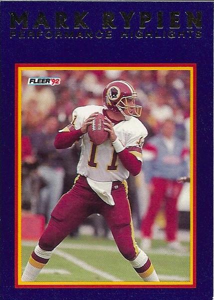 #14 1992 Fleer Mark Rypien Highlights