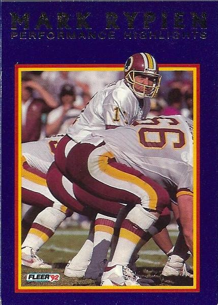#13 1992 Fleer Mark Rypien Highlights