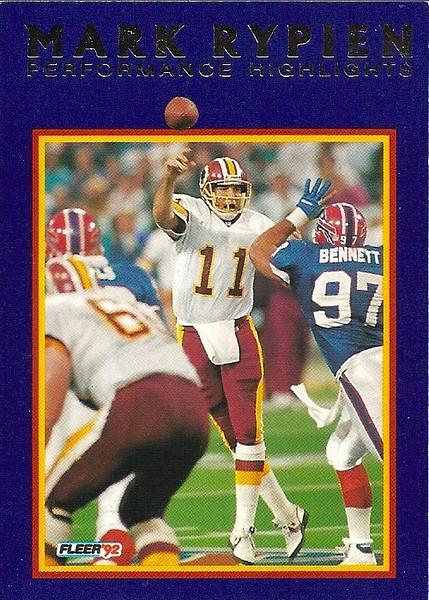 #12 1992 Fleer Mark Rypien Highlights