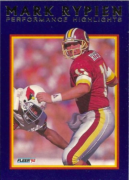#07 1992 Fleer Mark Rypien Highlights