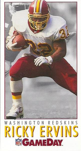 Ricky Ervins 1992 GameDay