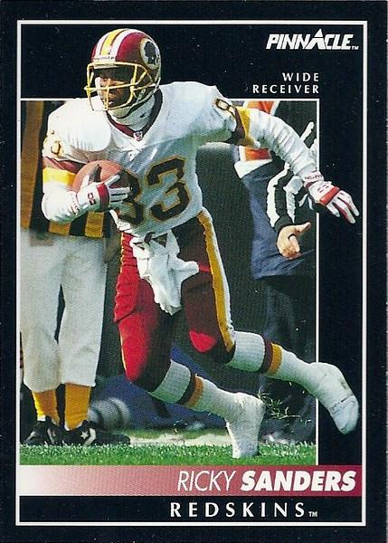 Ricky Sanders 1992 Pinnacle
