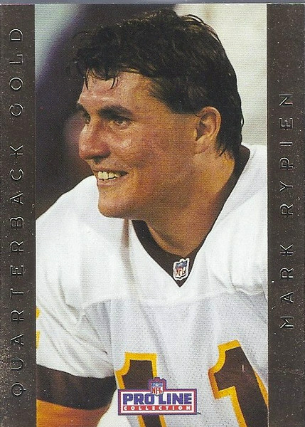 Mark Rypien QB Gold 1992 Pro Line Portraits