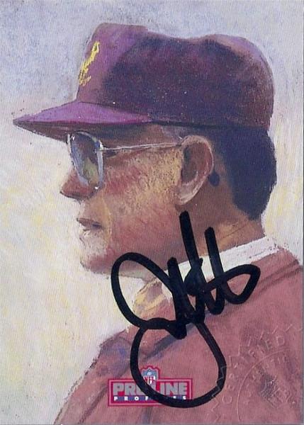 #5 Joe Gibbs 1992 Pro Line Profiles Autographs