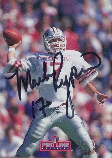 #3 Mark Rypien 1992 Pro Line Profiles Autographs