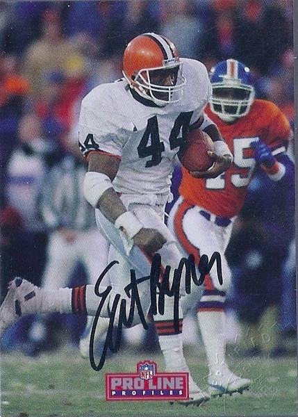 #6 Earnest Byner 1992 Pro Line Profiles Autographs