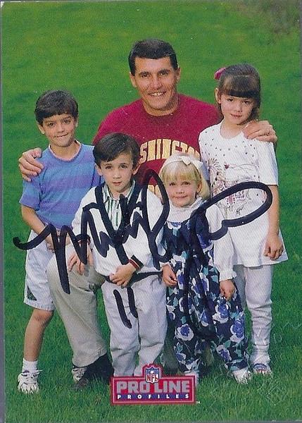 #8 Mark Rypien 1992 Pro Line Profiles Autographs