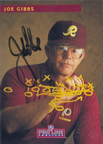 #1 Joe Gibbs 1992 Pro Line Profiles Autographs