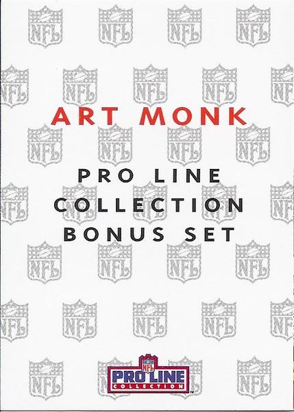 1992 ProLine Profiles Art Monk Header