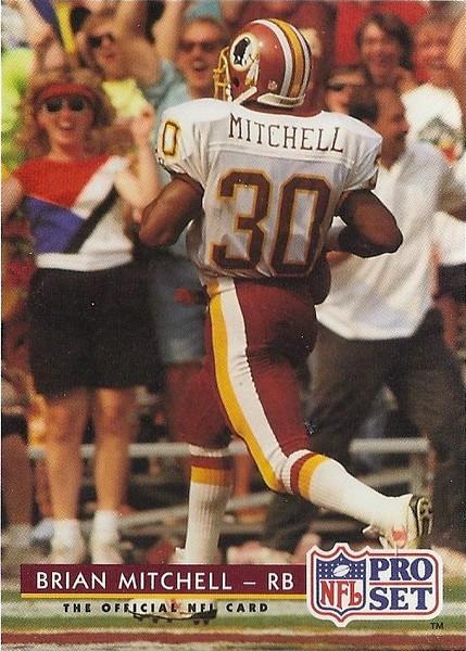 Brian Mitchell 1992 Pro Set