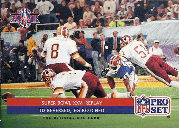 Chip Lohmiller Super Bowl 1992 Pro Set