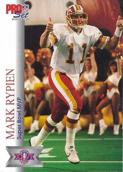 Mark Rypien Super Bowl MVP 1992 Pro Set