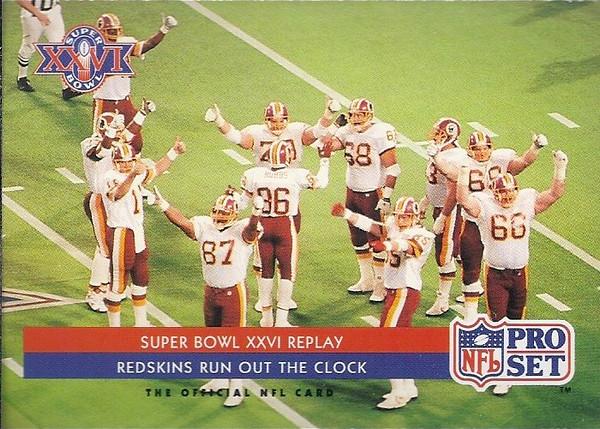 Redskins Super Bowl 1992 Pro Set