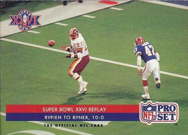 Earnest Byner Super Bowl 1992 Pro Set