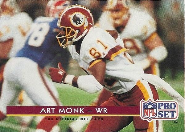 Art Monk 1992 Pro Set